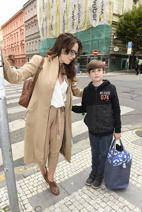 Tereza se synem Toníčkem