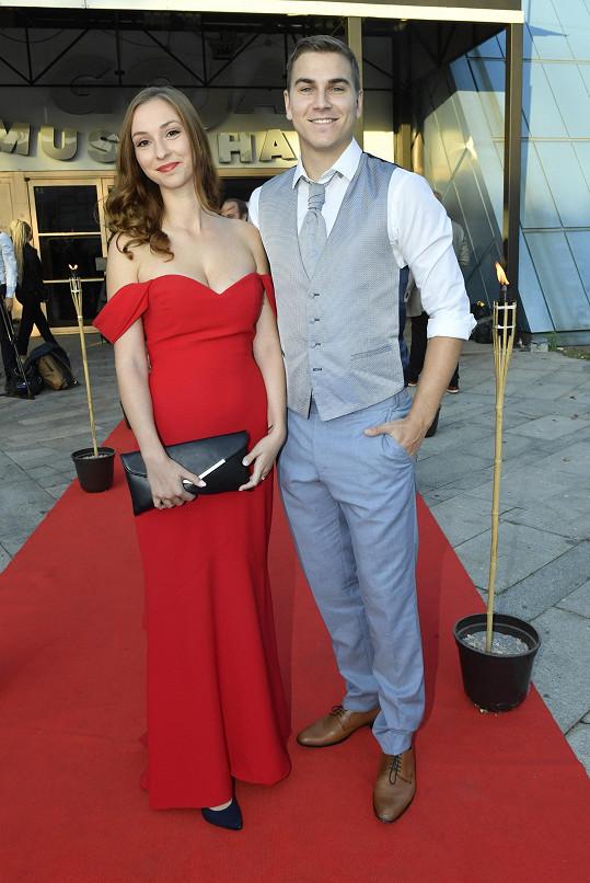 David Gránský s manželkou Nikolou.