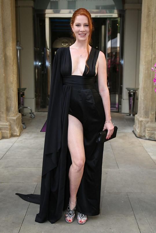 Nikol Kouklová měla hodně odvážné šaty.