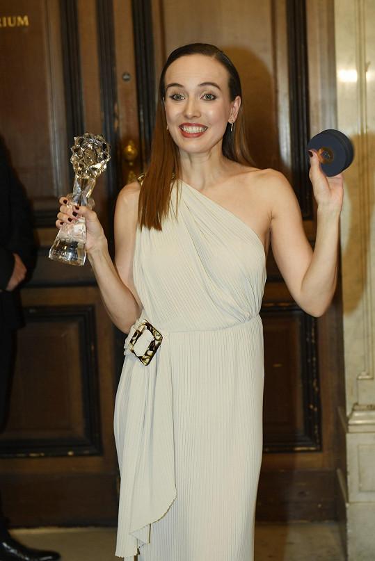 Tereza získala cenu Český lev pro nejlepší herečku v hlavní roli.
