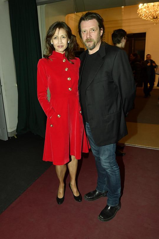 Nebo scénograf Martin Hruška s manželkou Michaelou Kocourovou