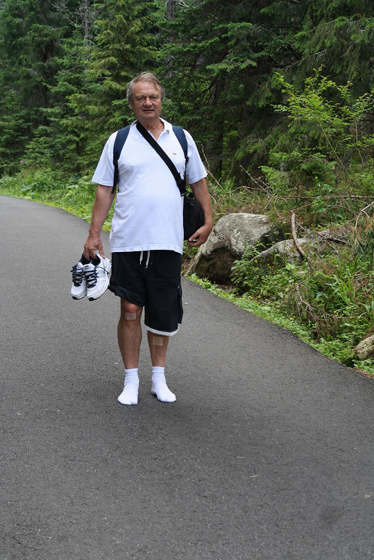 Jiří Adamec na horské túře nadšením nehýřil.