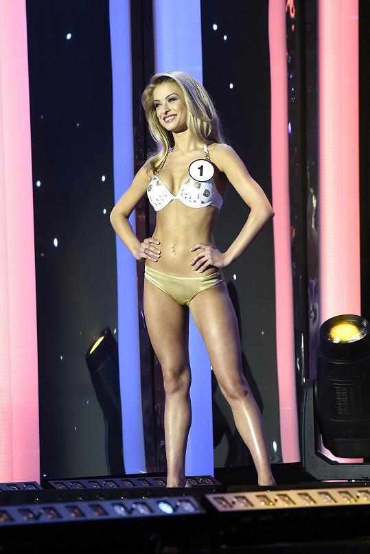 Kristýna na finále České Miss
