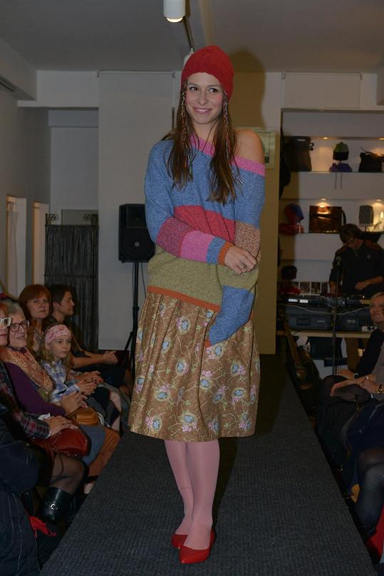 Předváděla na módní show Martiny Nevařilové.