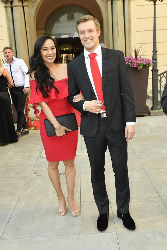 Tomáš Verner s nyní již manželkou Tammy