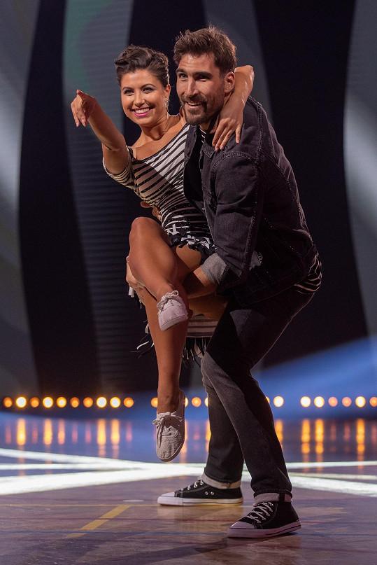 Veronika Lálová a David Svoboda se opět potkali na tanečním parketu.