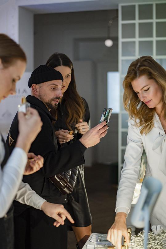 Natália Gápľovská přilákala během své prezentace lidi z módního a beauty průmyslu, včetně stylisty Filipa Vaňka.