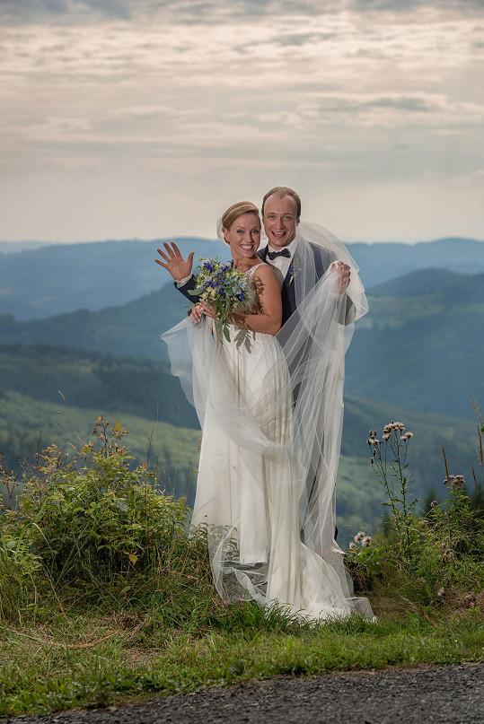 Markéta si přála ve svatební den vypadat jako víla.