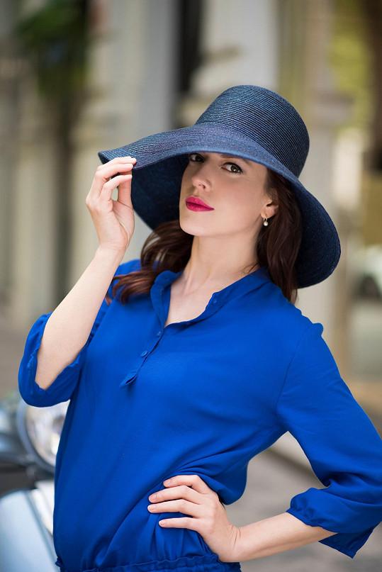 Andrea Kerestešová v roli modelky