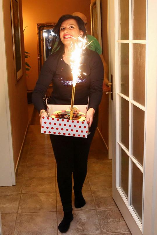 Andrea Kalivodová připravila manželovi krásné narozeniny.