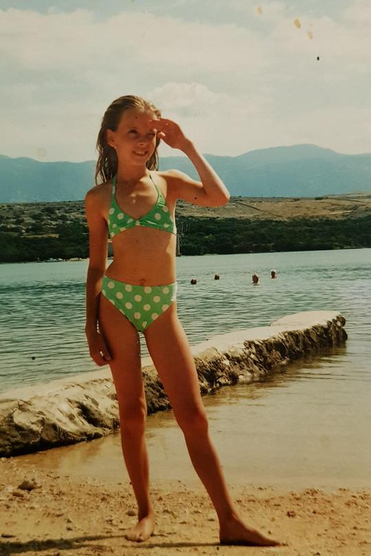 Gabriela Lašková ráda vzpomíná na dětství.