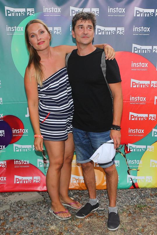Saša Rašilov s přítelkyní Lídou Němečkovou