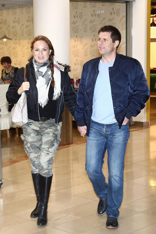 Markéta Hrubešová s partnerem Petrem
