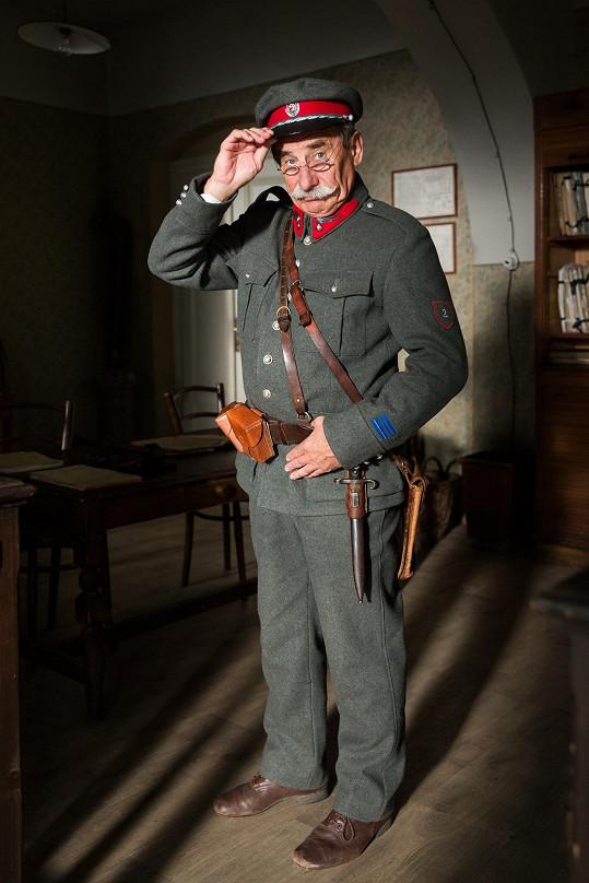 Pavel Zedníček si zahrál Rakušáka Hanse Geberta.
