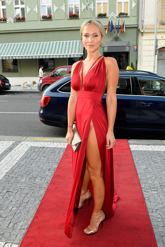 Nela Slováková na finále České Miss