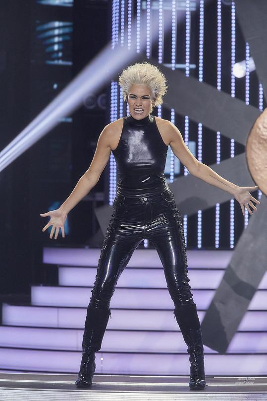Andrea Kalousová se ukázala v latexovém oblečku.