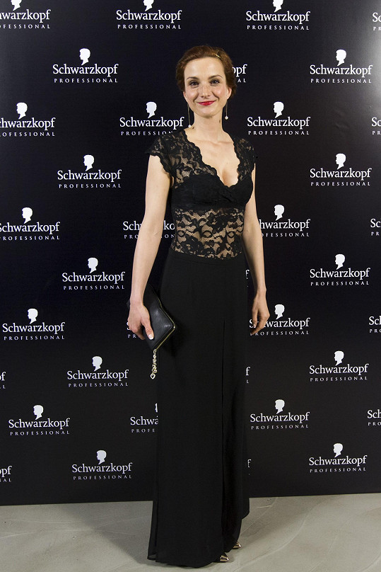 Herečka Míša Maurerová na soutěži Czech and Slovak Hairdressing Awards 2015 alias Kadeřník roku
