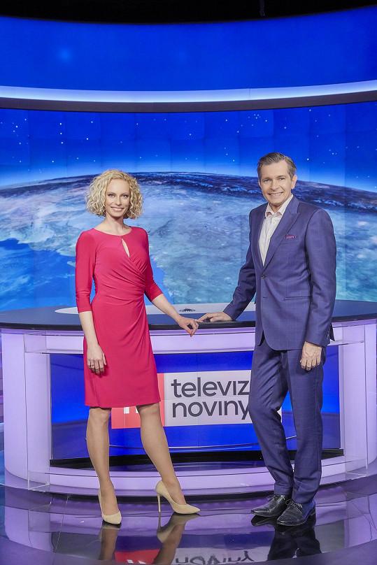 Kristina Kloubková a Martin Pouva jsou spolu ve zprávách i ve Víkendu.