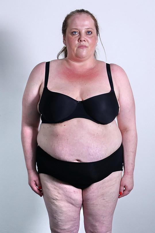Marcela vážila 133 kilogramů.