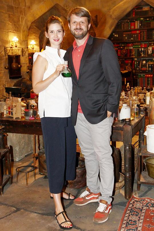 Herečka s manželem Rudolfem Merknerem, který je autorem i producentem seriálu Mazalové.