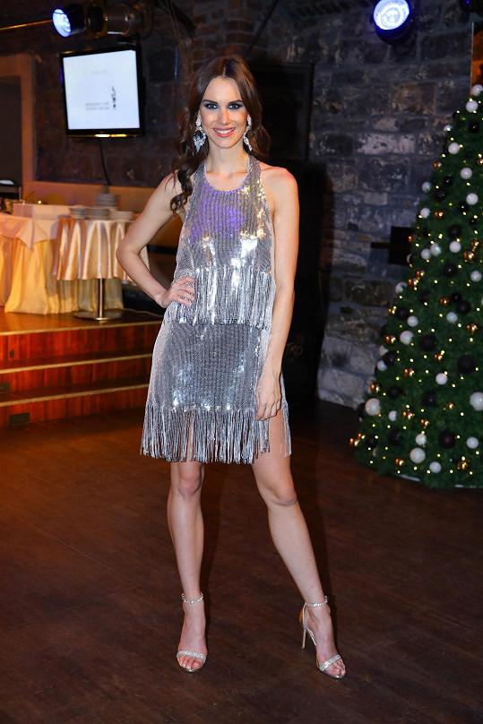 Barbora Hodačová na vánočním večírku České Miss