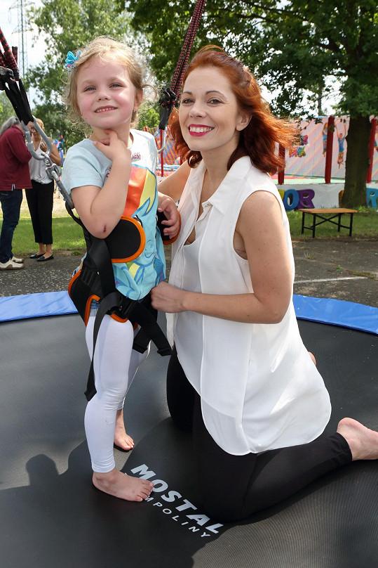Michaela s dcerou Eliškou si dětský den užily.