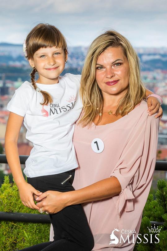 Hana Bejčková s dcerkou