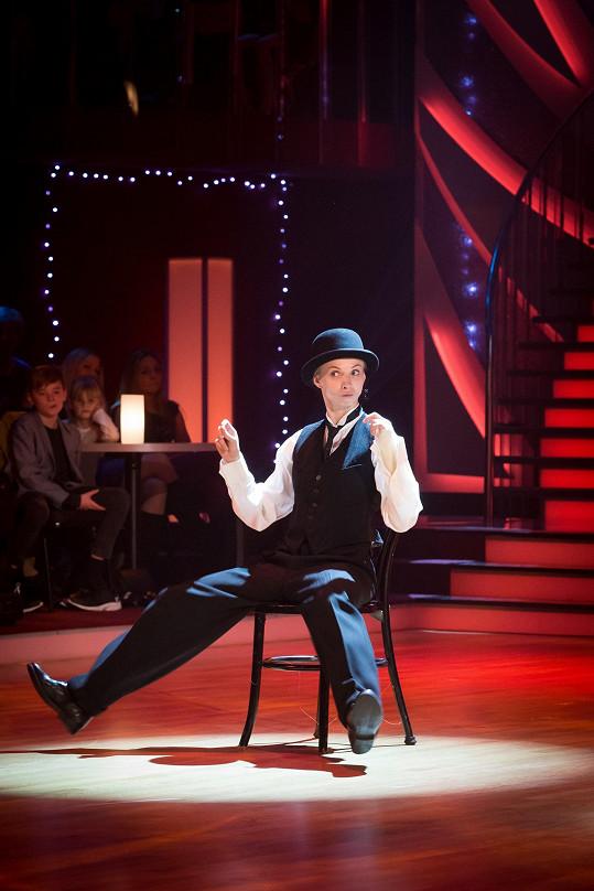 V jednom z dnešních tanečních čísel bude Jana za chlapečka...
