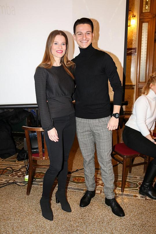 Gemrotová se podivovala nad tím, jak je její taneční partner Adam Havel mladý a hubený.