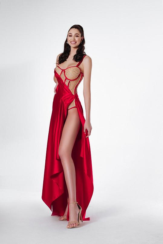 Denisa Spergerová vynese na finále Miss Grand International tyto šaty.