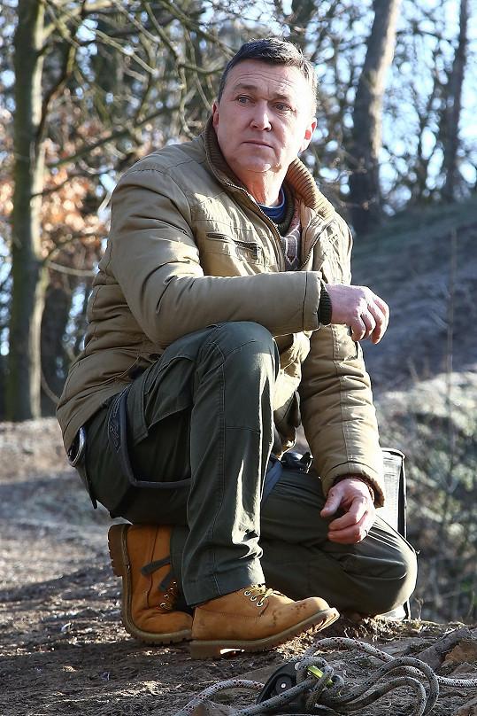 Martin Sitta využil své znalosti z lezení po skalách i během natáčení.