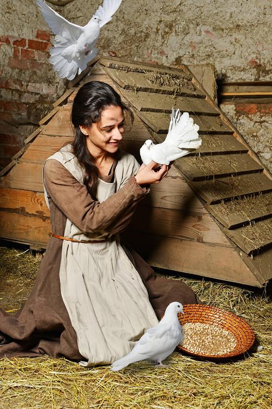 Eva Burešová s holoubky