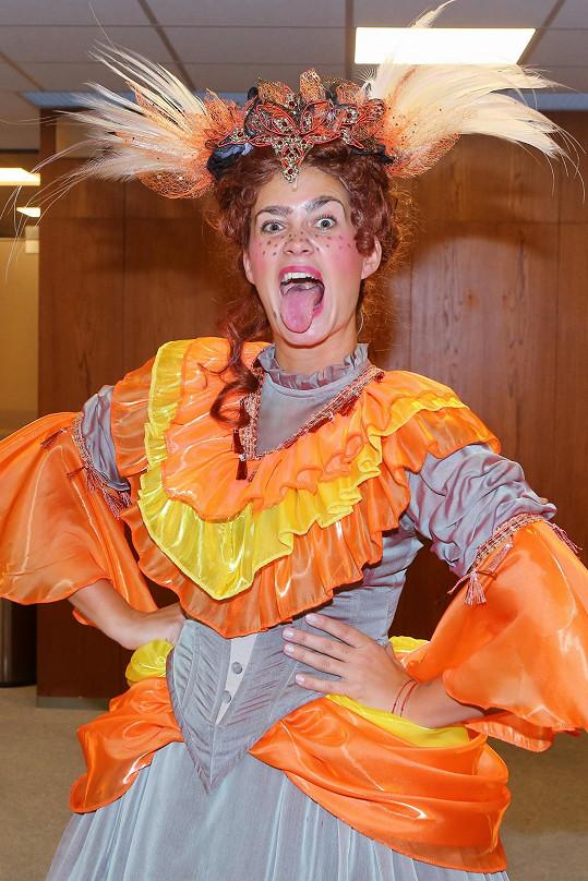 Kateřina jako Dora v Popelce.