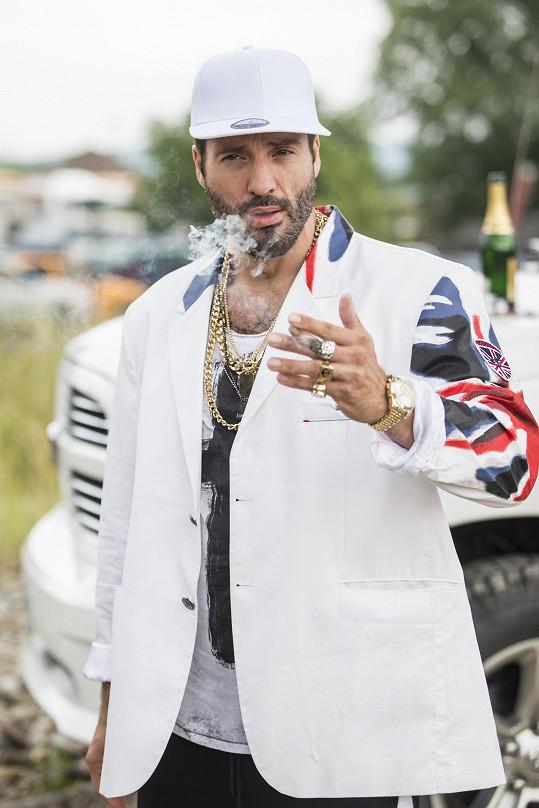 Václav Noid Bárta už hrál rapera v seriálu V.I.P. vraždy.