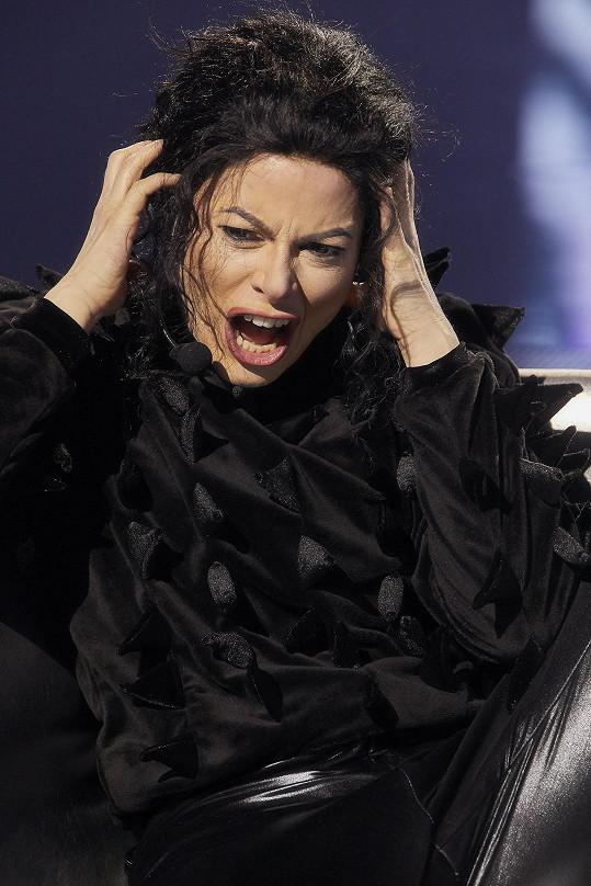 Hana Holišová jako Michael Jackson