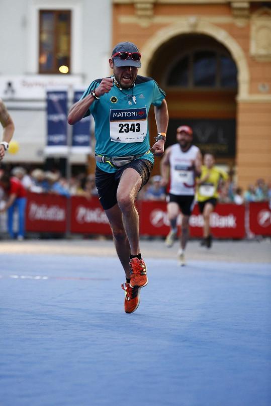 Během půlmaratonu v Českých Budějovicích