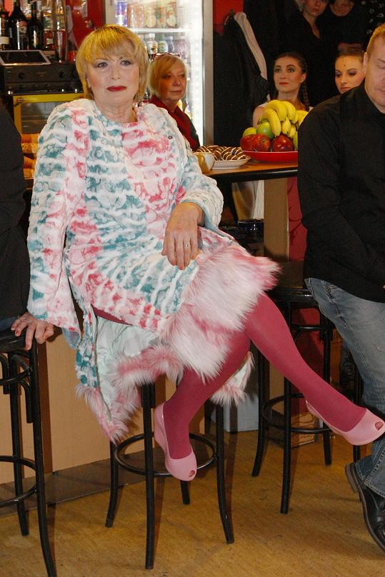 Herečka se připravovala na zkoušku muzikálu Sugar.