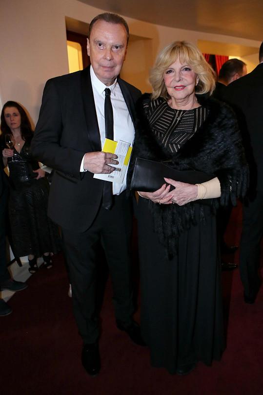S manželem Štefanem Margitou. Oba měli koronavirus.