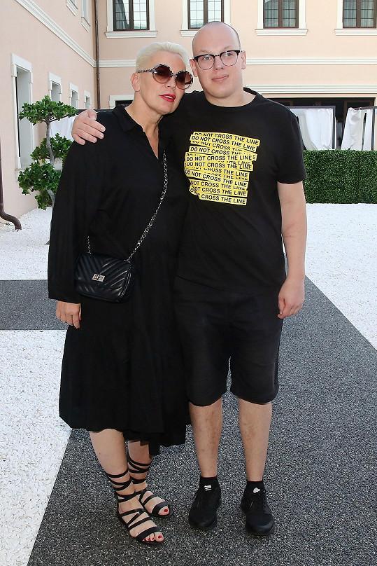 Kateřina se synem Filipem