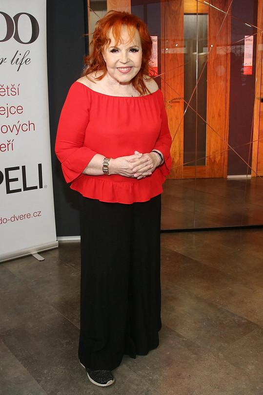 Výjimku udělala, když zpívala na online valentinském koncertu pro nadaci Český mozek.