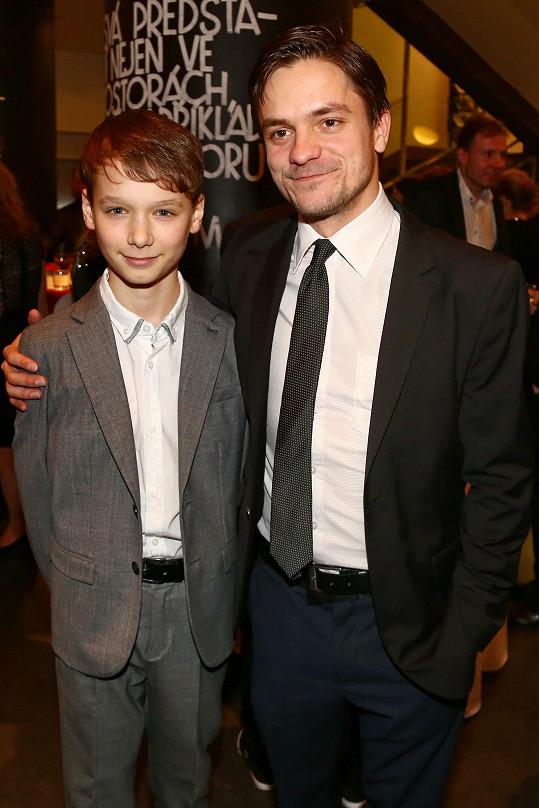 S Petrem Šimčákem, který hrál v jeho filmu hlavní roli.