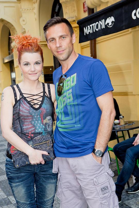 S muzikálovou kolegyní Ivou Marešovou na párty muzikálu Antoinetta