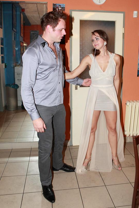 Marie Blahynková s přítelem Janem Křížem