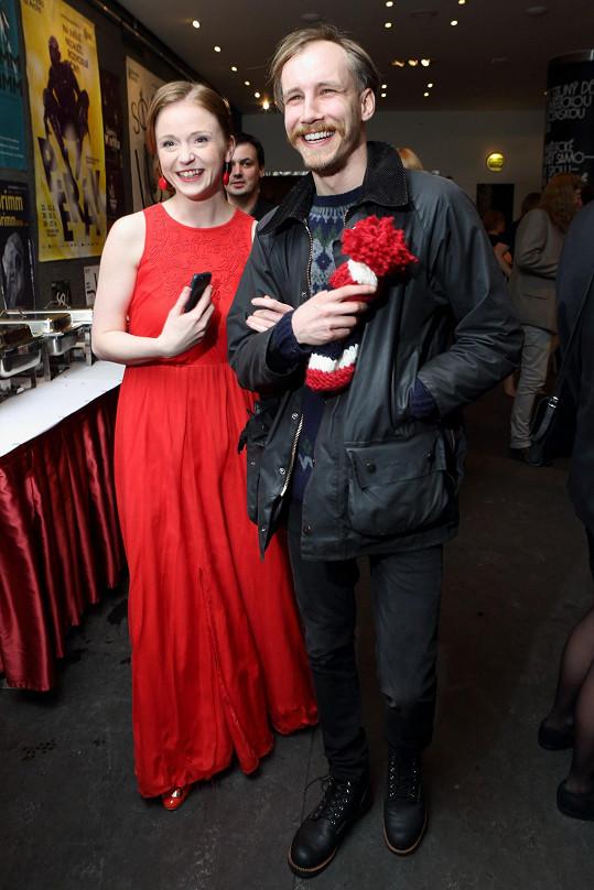 Marek za Marií dorazil na předávání Cen české filmové kritiky, které moderovala.