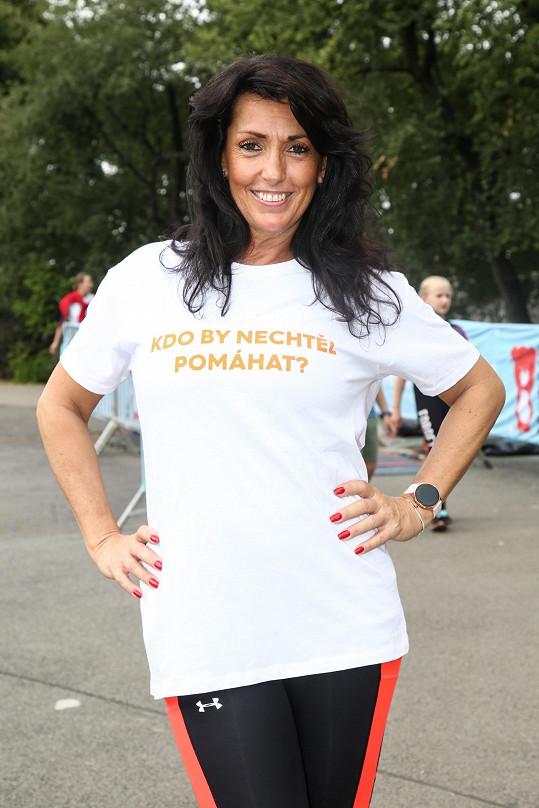 Na charitativním běhu podpořila Nadaci Terezy Maxové.