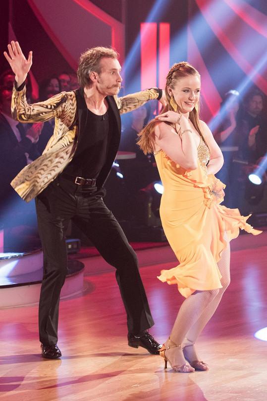 Marie Doležalová a Marek Zelinka tvoří hodně veselý taneční pár.
