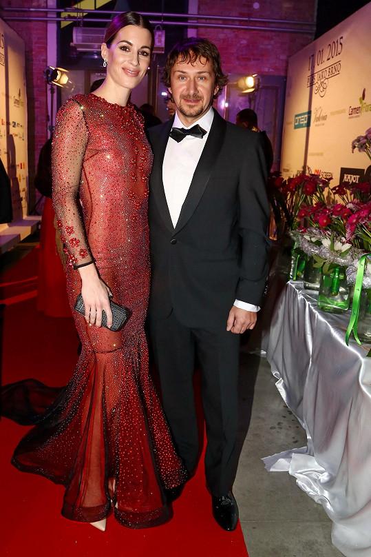 Lucie Křížková s manželem Davidem Křížkem.