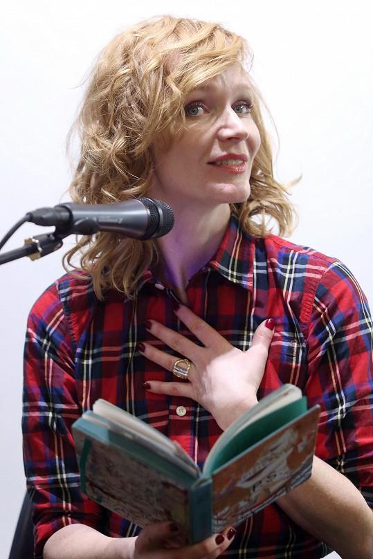 Aňa Geislerová četla ze své knihy P.S.