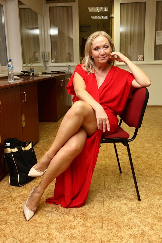 Na galavečeru Talent La Sophia ukázala i stehna.