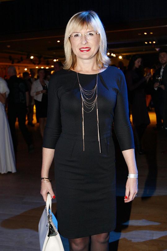 Štěpánka Duchková na přehlídce Urban Fashion Show, kde byla prezentovaná kolekce pro podzim a zimu 2015 návrhářky Tatiany Kovaříkové.